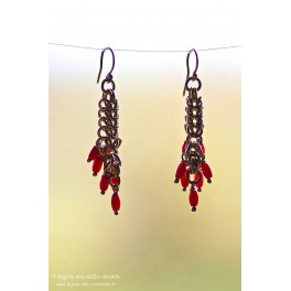 Corail rouge & Argent